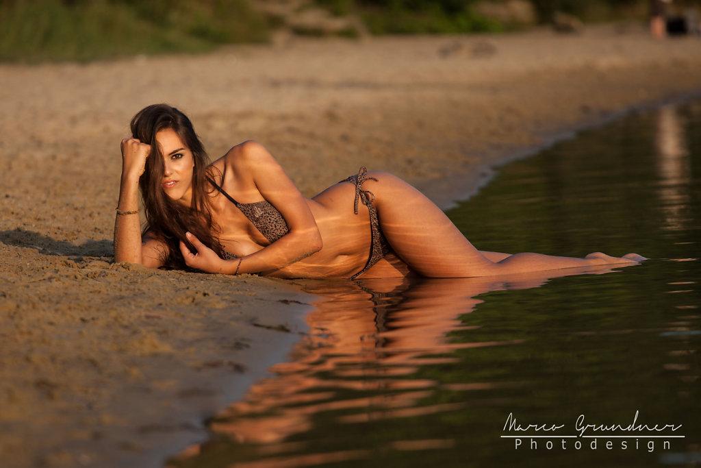 Kathy at the beach